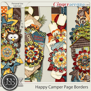 Happy Camper Page Borders