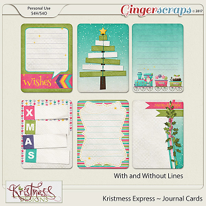 Kristmess Express Journal Cards