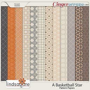 A Basketball Star Pattern Papers by Lindsay Jane