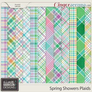 Spring Showers Plaid Papers by Aimee Harrison