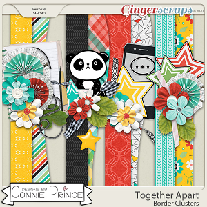Together Apart - Border Clusters by Connie Prince