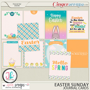 Easter Sunday - Journal Cards - by Neia Scraps and JB Studio
