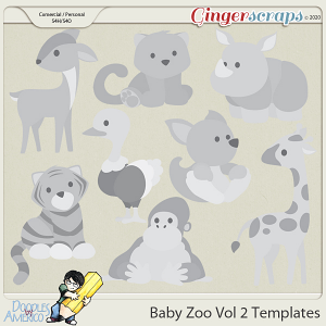 Doodles By Americo: Baby Zoo Vol 2 Templates