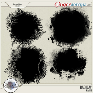 Bad Day - Masks - by Neia Scraps