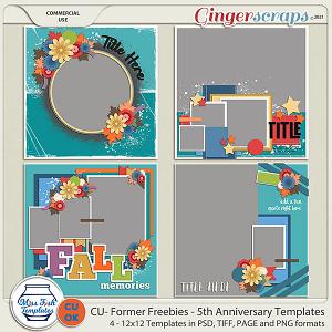 CU - Former Freebies - 5th Anniversary Templates by Miss Fish