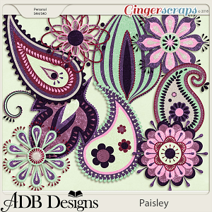 Paisley Glittered Accents by ADB Designs