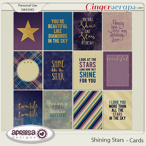 Shining Stars - Cards by Aprilisa Designs