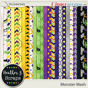 Monster Mash PAPERS by Heather Z Scraps