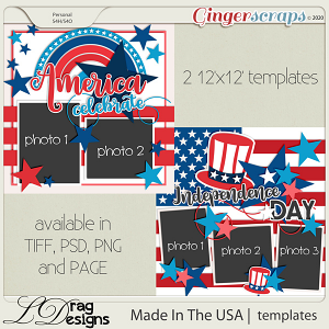 Made In The USA: Templates by LDragDesigns