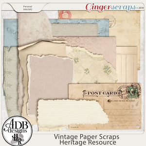 Heritage Resource - Vintage Paper Scraps by ADB Designs