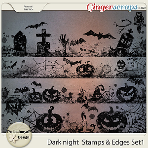 Dark night Stamps & Edges Set1