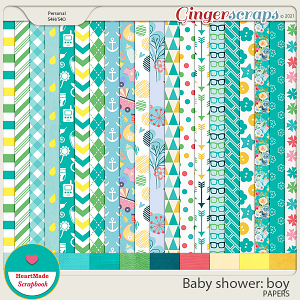 Baby shower: boy - papers