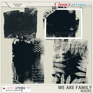 We Are Family - Masks - by Neia Scraps