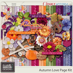 Autumn Love Page Kit by Aimee Harrison