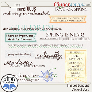 Impetuous Word Art by ADB Designs