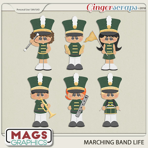 Marching Band Life GREEN BAND by MagsGraphics