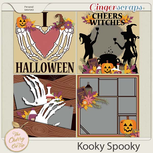 The Cherry On Top:  Kooky Spooky Templates