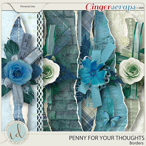Penny For Your Thoughts Borders by Ilonka's Designs