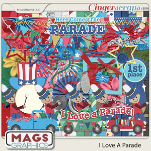 I Love A Parade KIT by MagsGraphics
