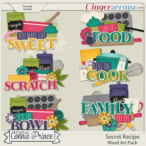 Secret Recipe - Word Art Pack