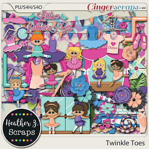 Twinkle Toes ELEMENTS by Heather Z Scraps
