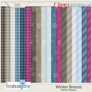 Winter Breeze Pattern Papers by Lindsay Jane