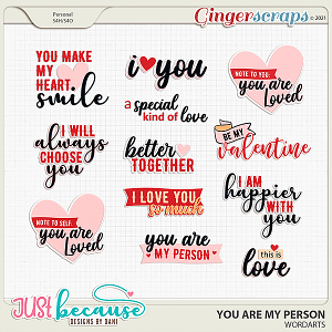 You Are My Person Wordarts by JB Studio