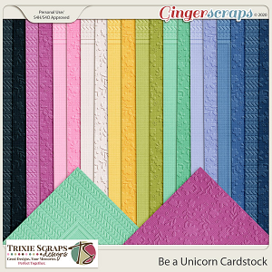 Be a Unicorn Cardstock by Trixie Scraps Designs