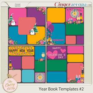 The Cherry On Top:  Yearbook Winter Project Life Style Templates