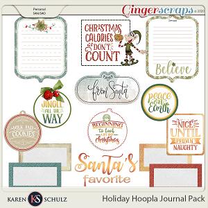 Holiday Hoopla Journal Pack by Karen Schulz