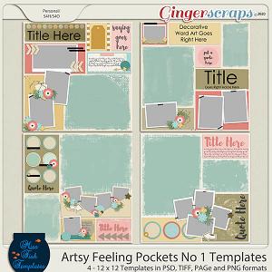 Artsy Feelings Pockets No 1 Templates by Miss Fish