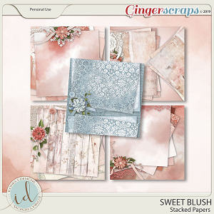 Sweet Blush Stacked Papers by Ilonka's Designs