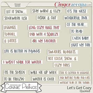 Let's Get Cozy - Quoted by Connie Prince