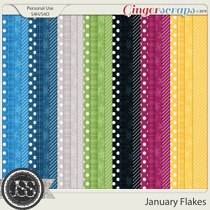 January Flakes Pattern Papers