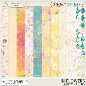 In Flowers - Artsy Papers - by Neia Scraps