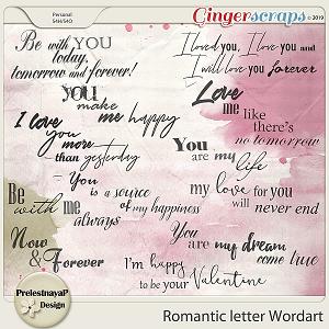 Romantic letter Wordart
