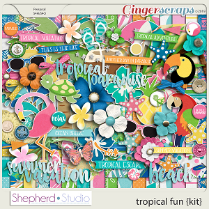 Tropical Fun Digital Scrapbooking Kit by Shepherd Studio