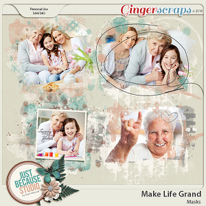 Make Life Grand Masks by JB Studio