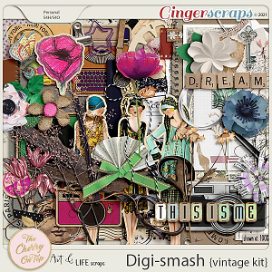 The Cherry On Top & Art & Life Scraps:  DigiSmash Vintage Kit