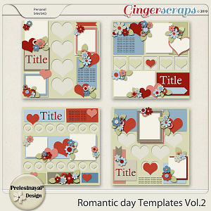 Romantic day Templates Vol.2