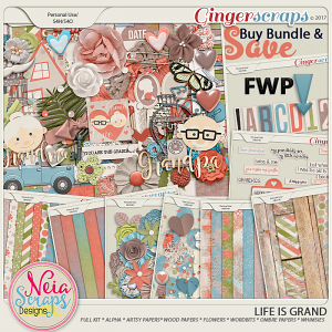 Life Is Grand - Bundle + *FWP* - By Neia Scraps