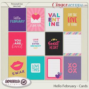 Hello February - Cards