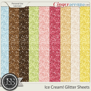 Ice Cream Glitter Sheets