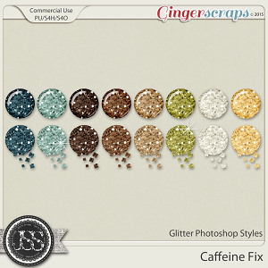 Caffeine Fix Glitter Photoshop Styles