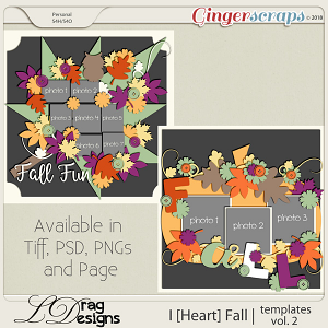 I [Heart] Fall: Templates Vol. 1 by LDragDesigns