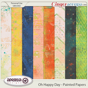 Oh Happy Day - Painted Papers