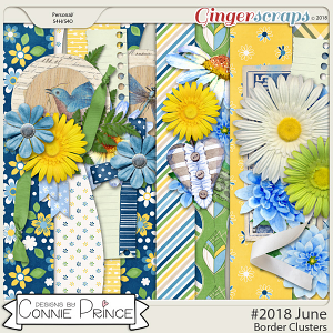 #2018 June - Border Clusters by Connie Prince