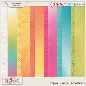 Tropical Parrotise Extra Papers
