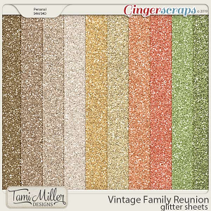 Vintage Family Reunion Glitter Sheets by Tami Miller Designs