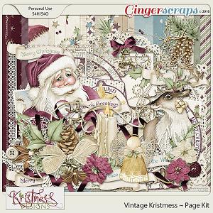 Vintage Kristmess Page Kit